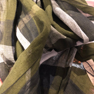 Authentic BURBERRY Green Scarf