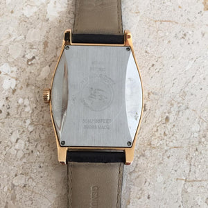 Authentic BURBERRY Mens Rose Gold and Black Leather Watch