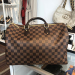 Authentic LOUIS VUITTON Speedy Damier Ebene Bandoulier 35