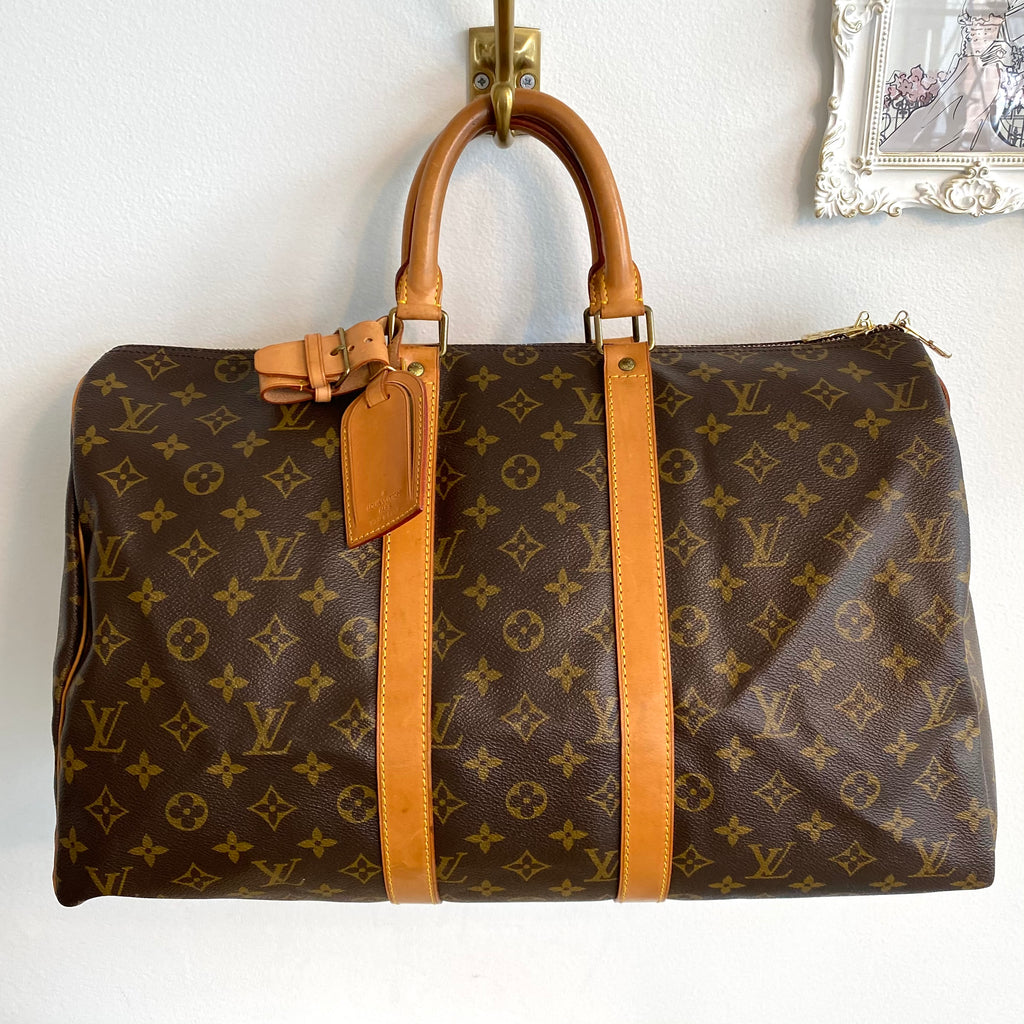 Authentic LOUIS VUITTON Vintage Monogram Keepall 45 #2