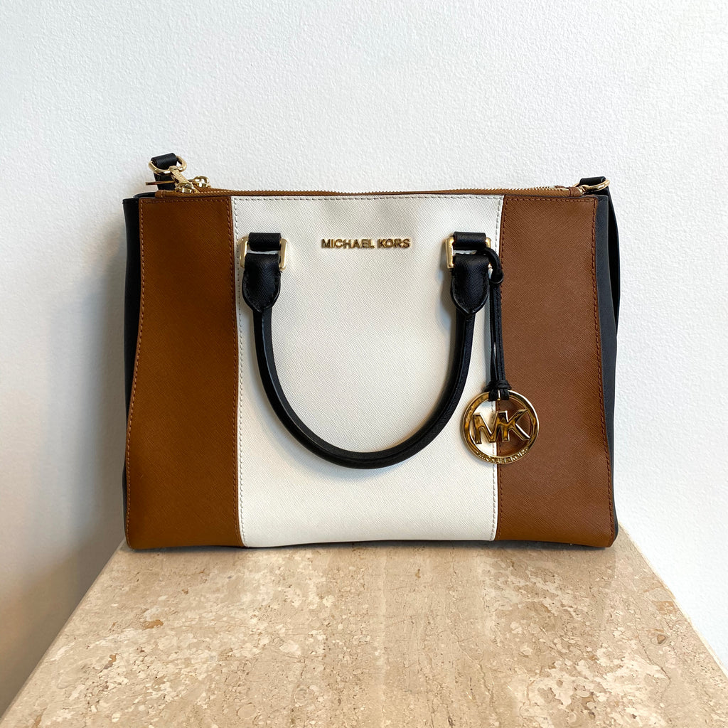 Authentic MICHAEL KORS Tri-Colour Sutton Handbag