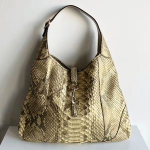 299638bf27be Authentic GUCCI Python Large Jackie O Bouvier Hobo – Valamode