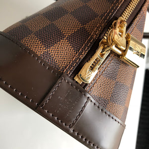 Authentic LOUIS VUITTON Alma Damier Ebene Canvas