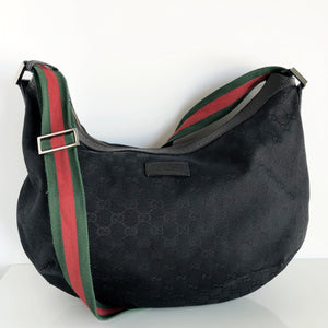 Authentic GUCCI Black Monogram Large Crossbody