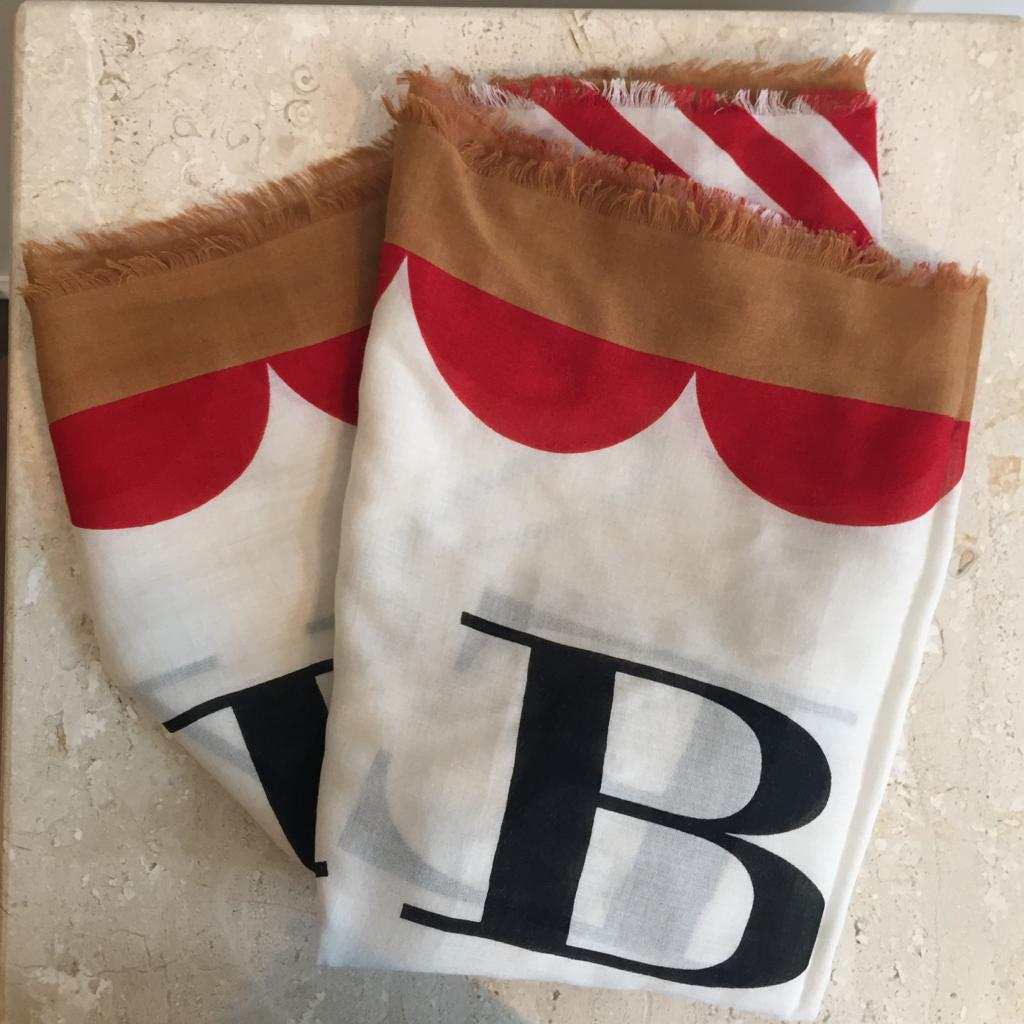 Authentic BURBERRY LOGO Print Scarf
