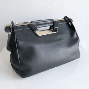 Authentic BALENCIAGA Leather Ray Doctor Bag.Clutch