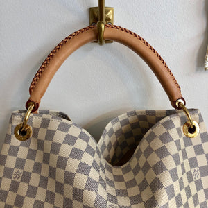 Authentic LOUIS VUITTON Damier Azur Artsy MM