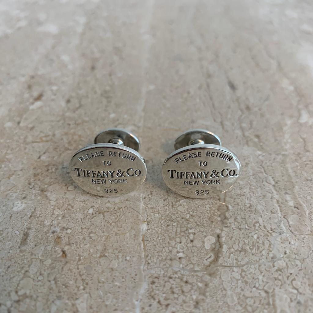 Authentic TIFFANY & CO. Sterling Silver Unisex Cufflinks