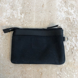 Authentic GUCCI Black Mongoram Canvas Change Purse