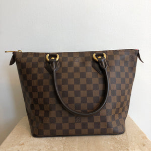 Authentic LOUIS VUITTON Damier Ebene Saleya PM