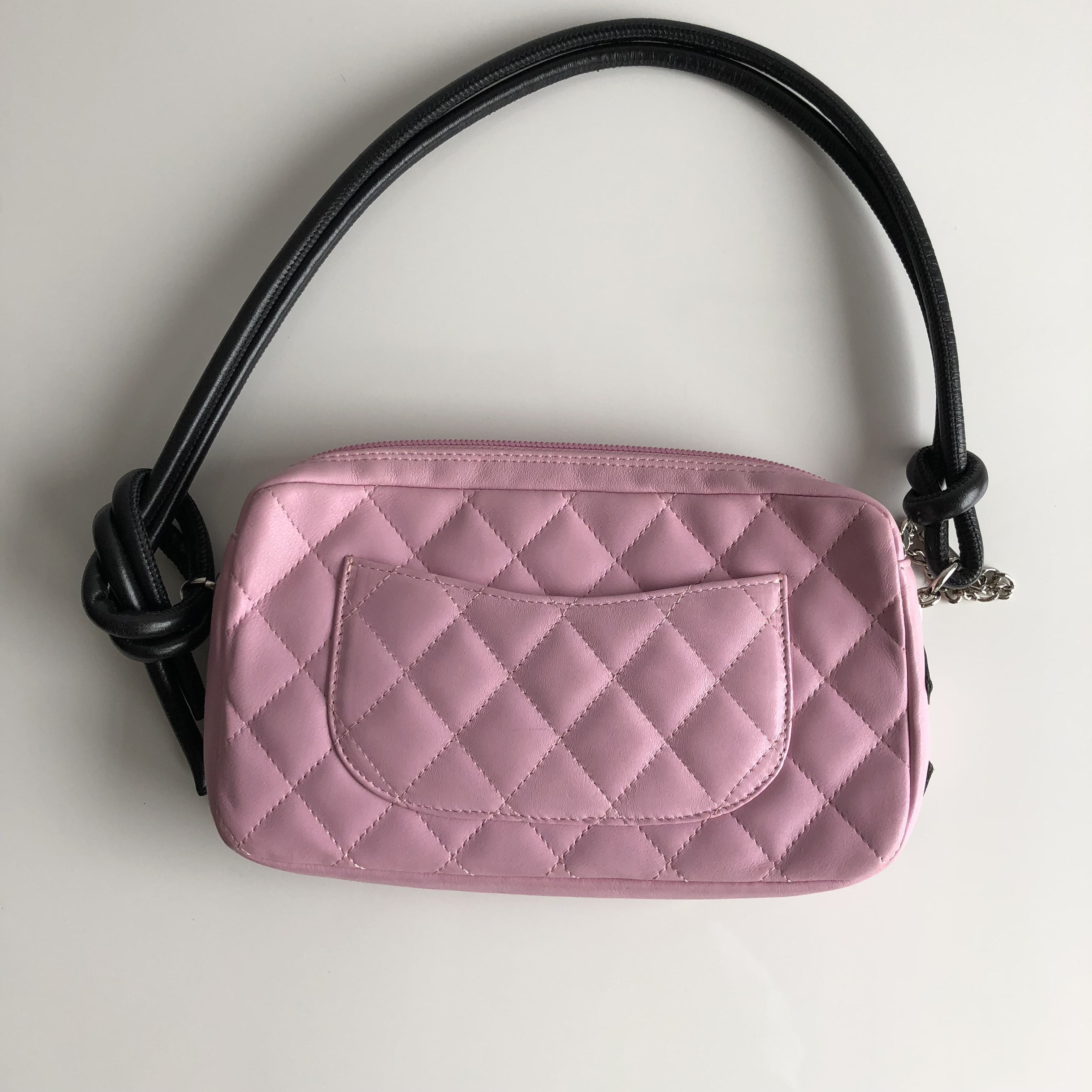 Authentic CHANEL Pink Cambon Pochette
