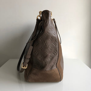 Authentic LOUIS VUITTON Monogram Empreinte Suede Audacieuse MM Ombre