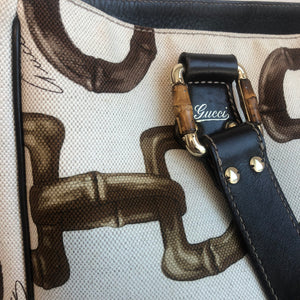 Authentic GUCCI Horsebit Print Tote