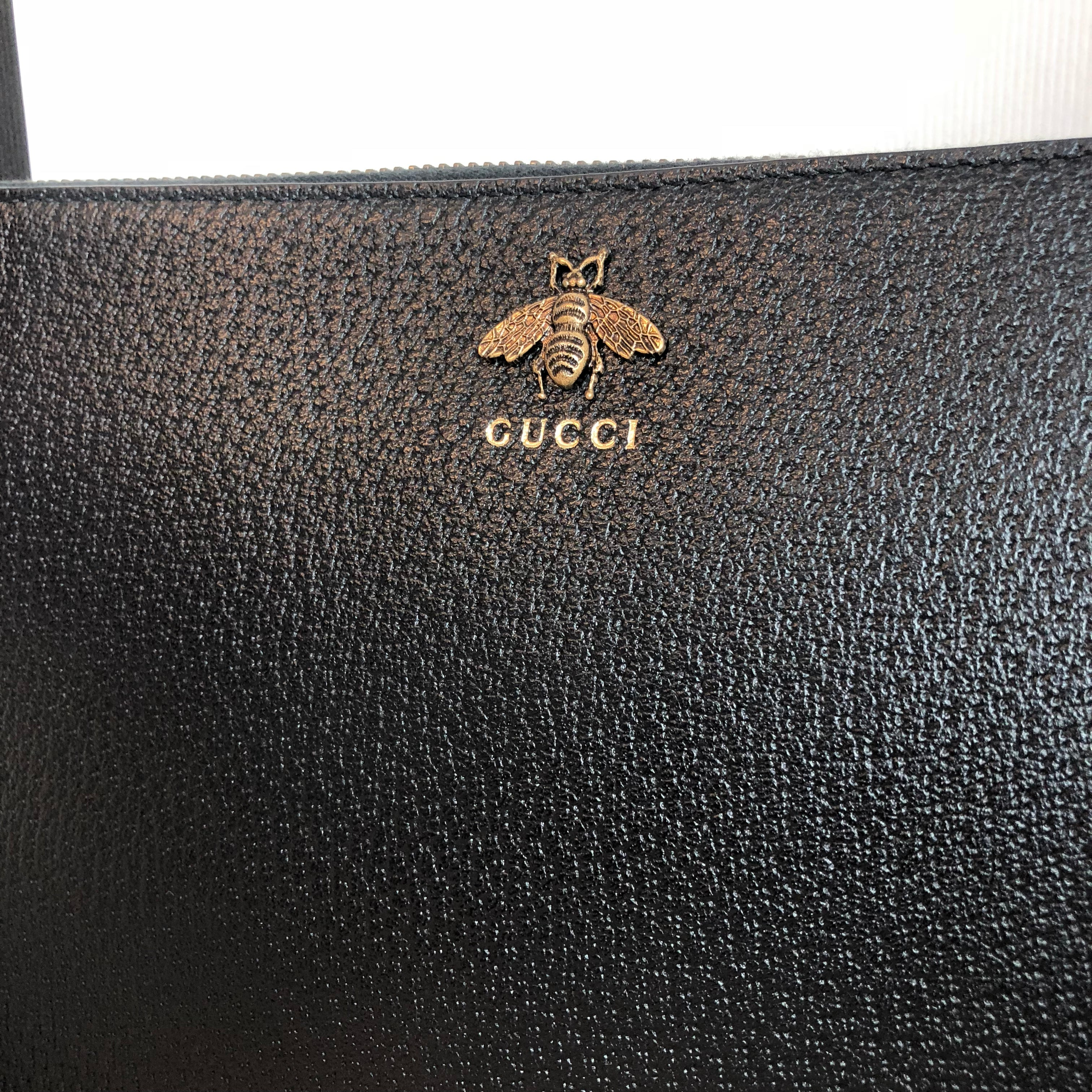 Authentic GUCCI Animalier Leather Pouch