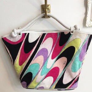 Authentic EMILIO PUCHI Multi-Color Beach Handbag