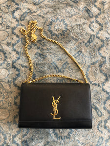 Authentic Yves Saint Laurent Black Kate Chain Crossbody