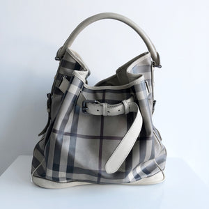 Authentic BURBERRY Taupe Shoulder Bag
