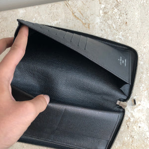 Authentic LOUIS VUITTON Graphite Zippy Vertical Wallet