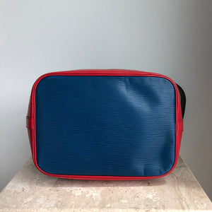 Authentic LOUIS VUITTON Vintage Epi Tricolor Noe Rouge Toledo Borneo