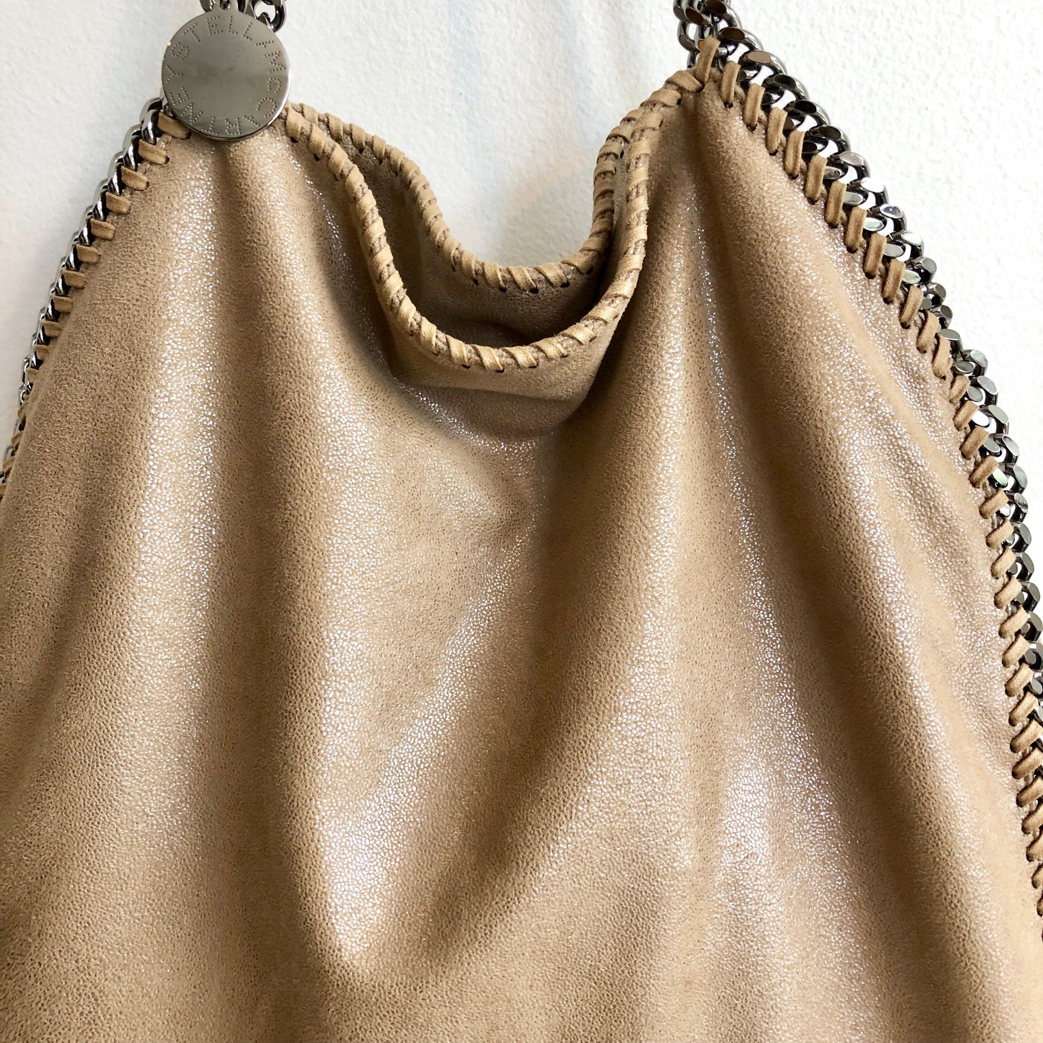 2nd payment of two Authentic STELLA MCCARTNEY Falabella Beige Chain Tote