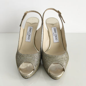Authentic JIMMY CHOO Glitter Luna Size 6.5