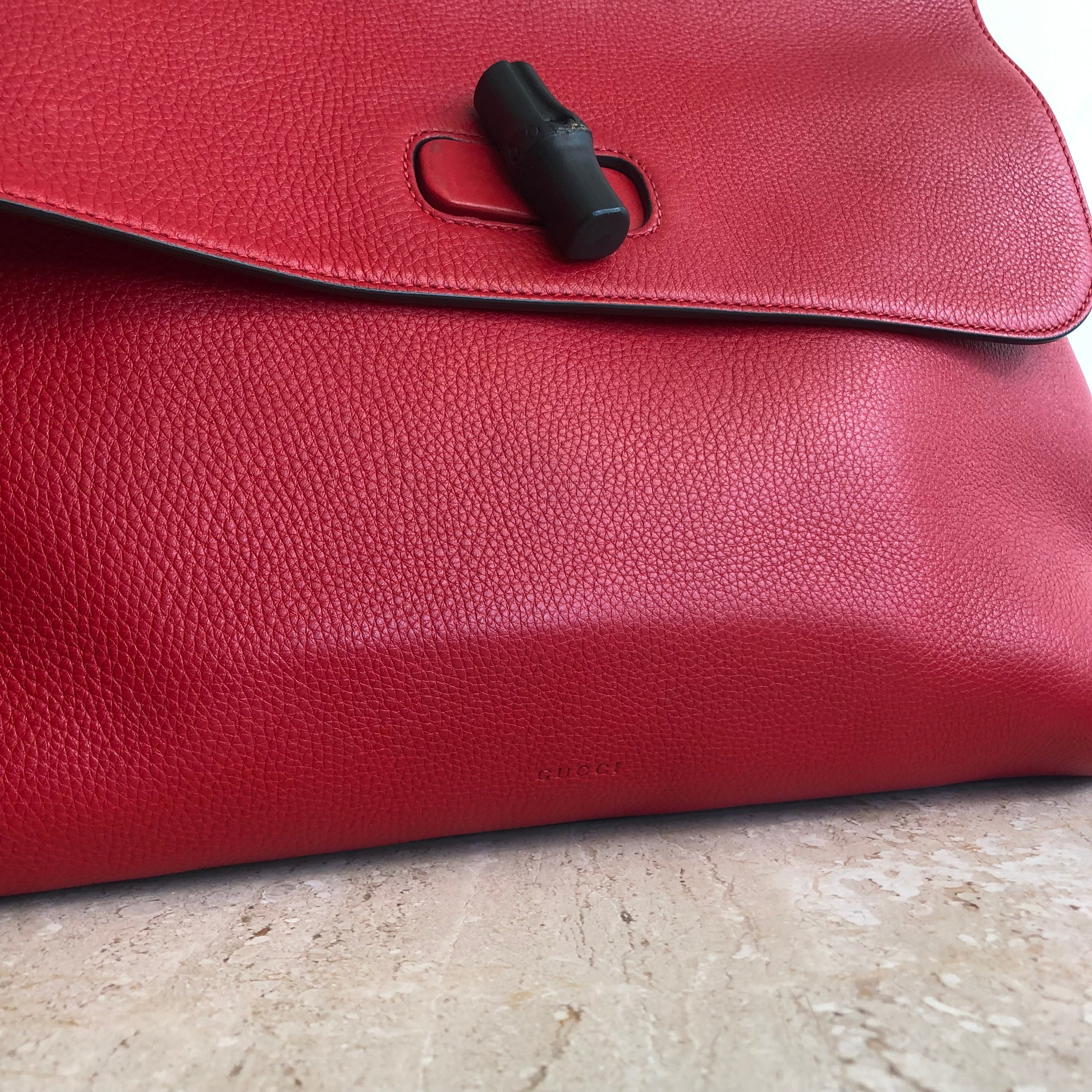 Authentic GUCCI Daily Red Medium Tote