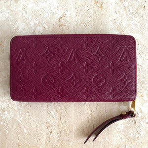 Authentic LOUIS VUITTON Empreinte Zippy Wallet