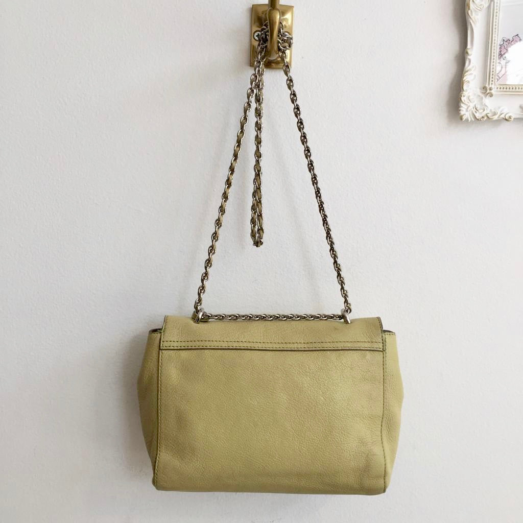 Authentic MULBERRY Pistachio Leather Shoulder/Crossbody Bag