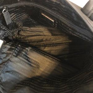 Authentic PRADA Black Nylon Shoulder Tote