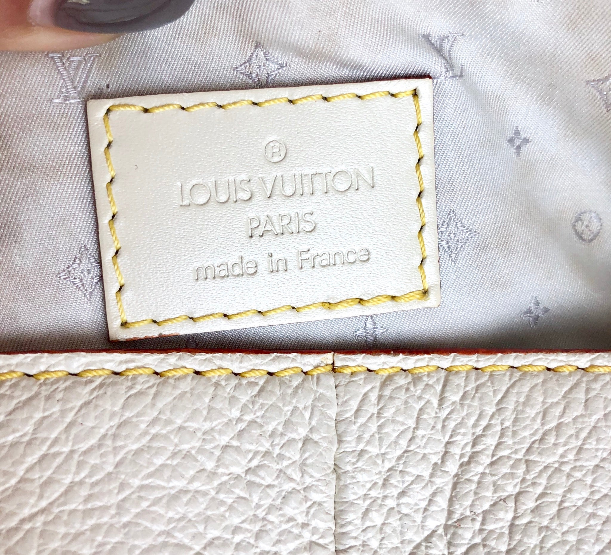 2 & 3 PAYMENT OF THREE Authentic LOUIS VUITTOM White Suhali L'Impetueux Bag