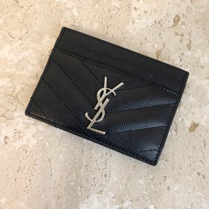Authentic Yves Saint Laurent Navy Cardholder