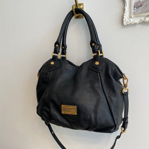 Authentic MARC BY MARC JABOBS Black leather Hobo - Top Handle/Shoulder Strap