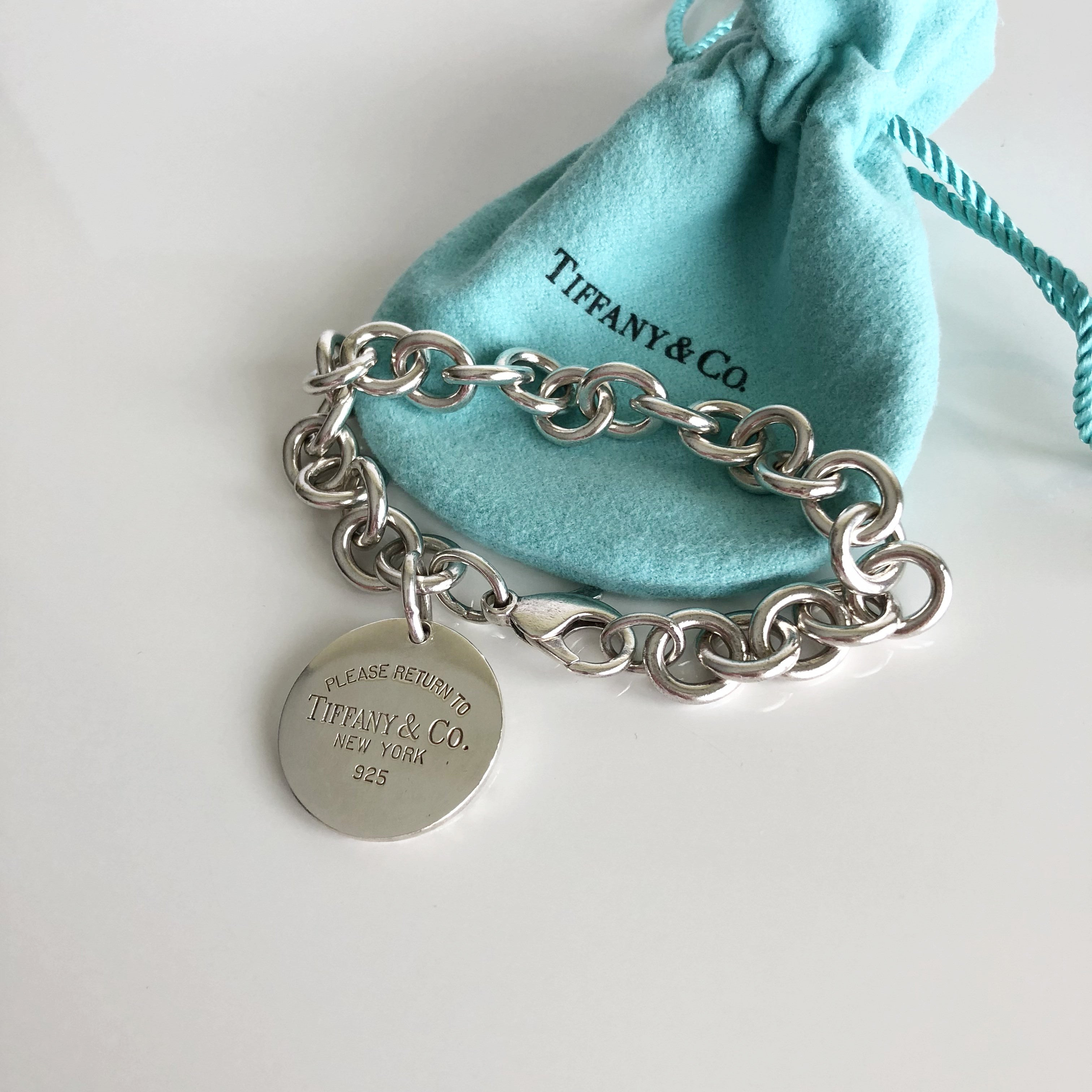 Authentic TIFFANY & CO Round 1837 Sterling Silver Bracelet