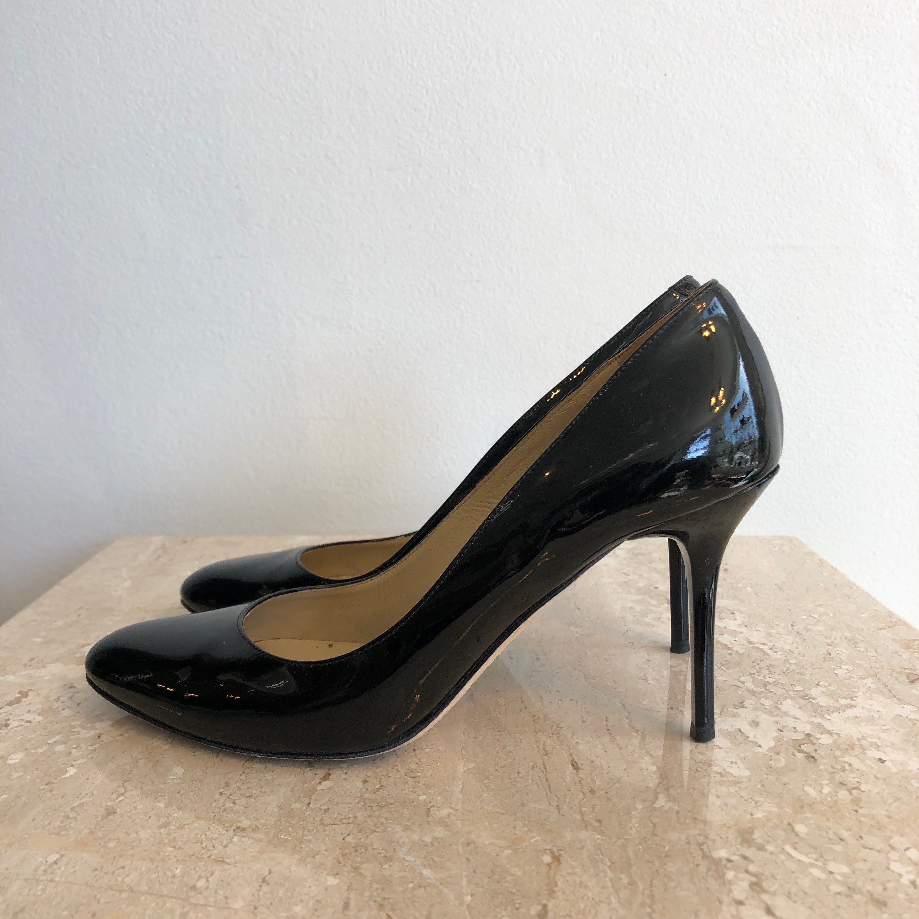 Authentic JIMMY CHOO Shoes - Size 6 - Black Patent - Pump