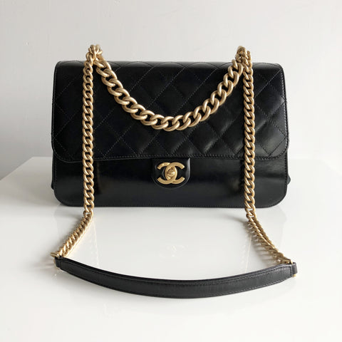 Authentic CHANEL Cosmopolitan Black Calfskin Bag