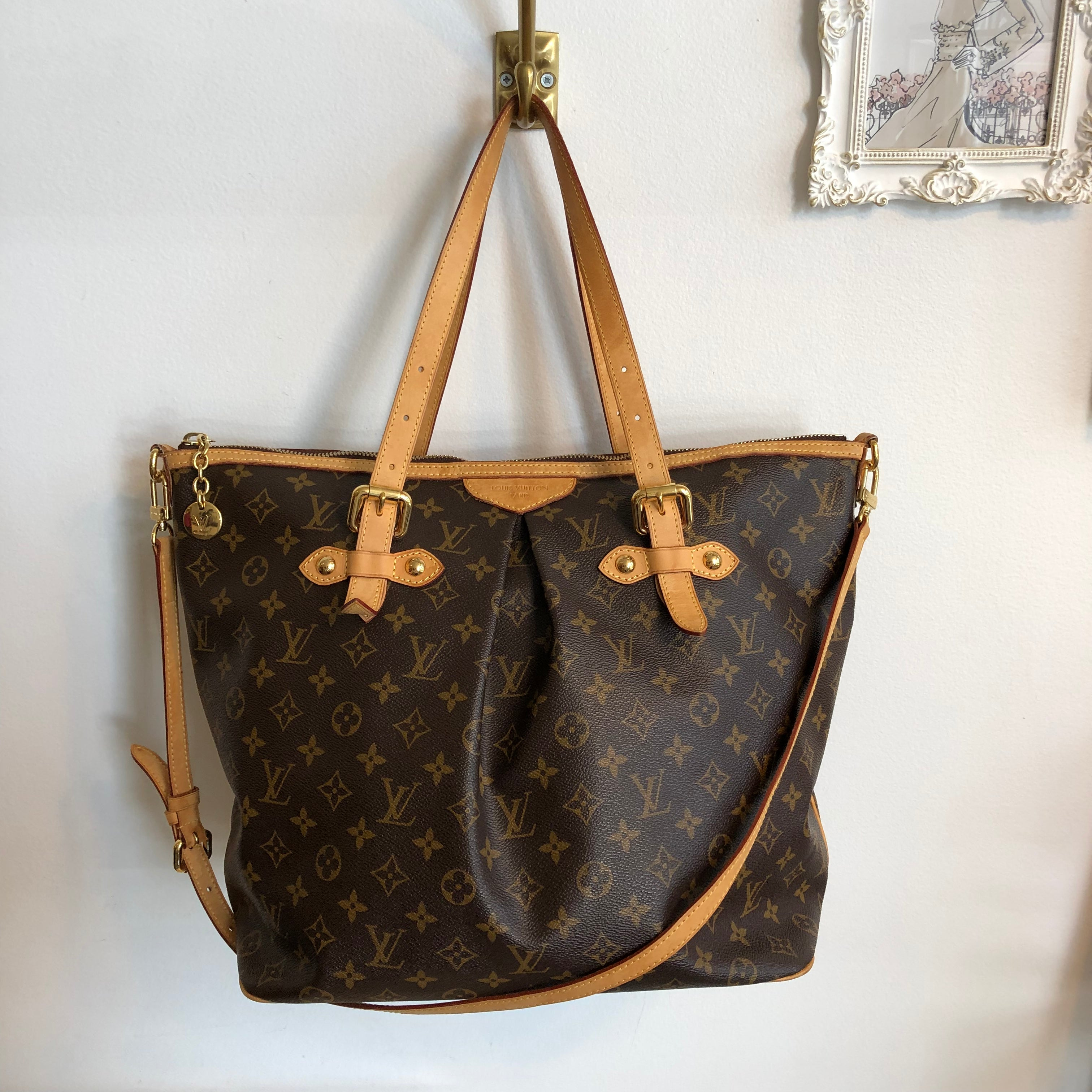 Authentic LOUIS VUITTON Palermo GM