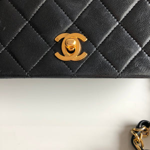 "Authentic CHANEL Vintage Mini 7"" Flap Bag"