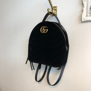 Authentic GUCCI Velvet Marmont Backpack