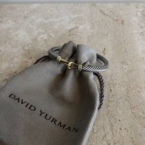 Authentic DAVID YURMAN Sterling Silver And Gold 5MM Bracelet