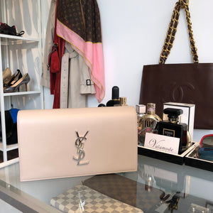 Authentic YSL Taupe Clutch