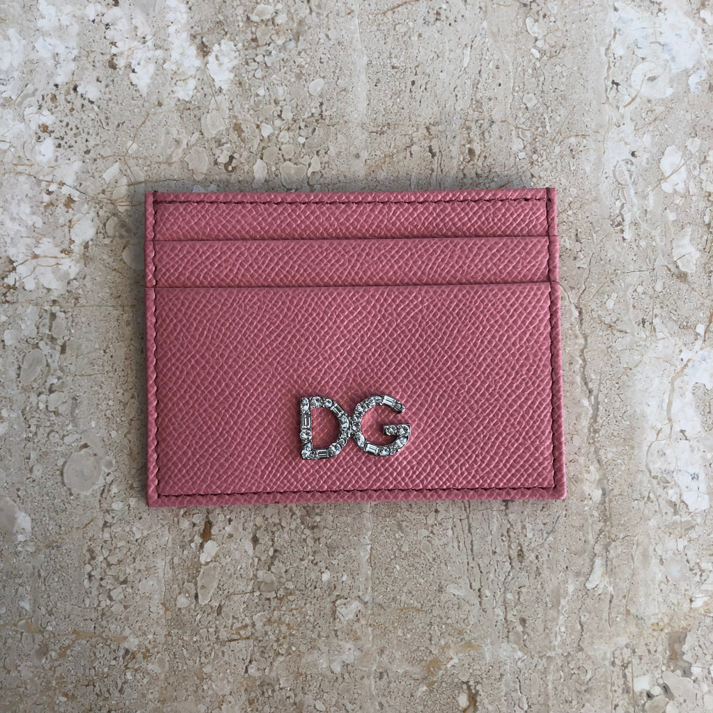 Authentic D&G Pink Crystal Card Holder
