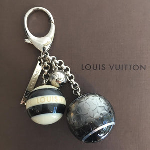 Authentic LOUIS VUITTON Black Mini Lin Bag Charm