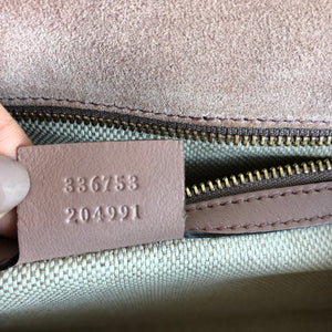 Authentic GUCCI Soho Patent Blush Clutch