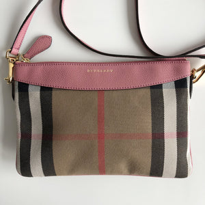 Authentic BURBERRY Peyton House Check Crossbody Bag