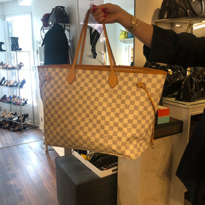 Authentic LOUIS VUITTON Neverfull GM Azure