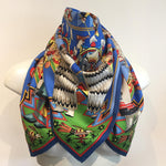 Authentic HERMES Kachinas 100% Silk Scarf