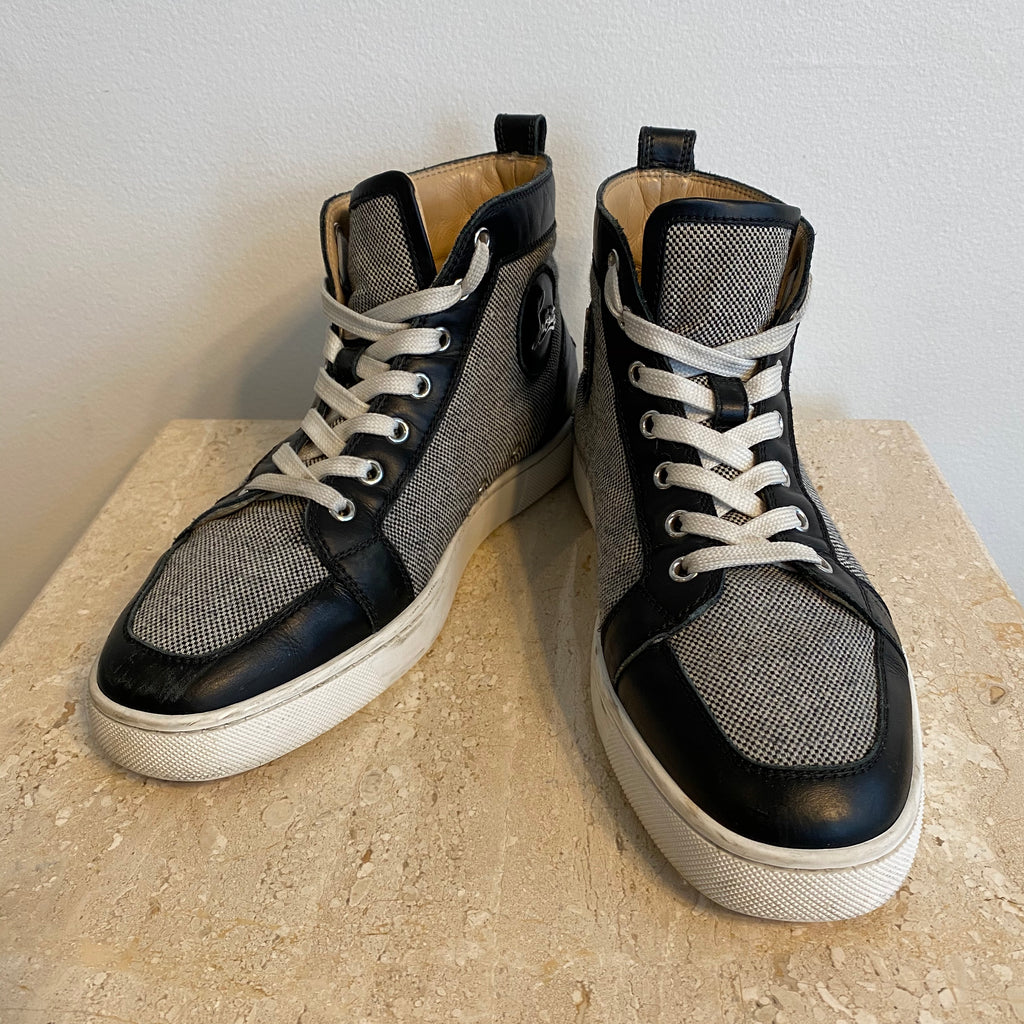 Authentic CHRISTIAN LOUBOUTIN High-Top Sneakers - Size 9.5