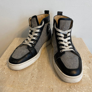 Authentic CHRISTIAN LOUBOUTIN High-Top Sneakers - 9.5