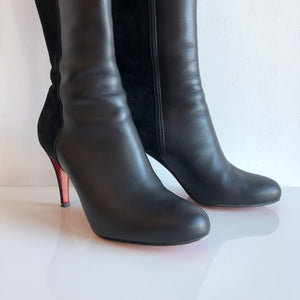 Authentic CHRISTIAN LOUBOUTIN Aechival 85 Knee High Boots Size 7.5