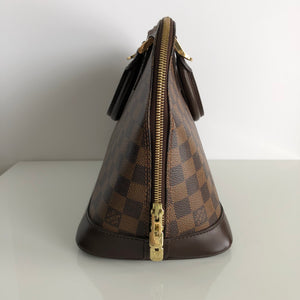 Authentic LOUIS VUITTON Alma PM Damier Ebene